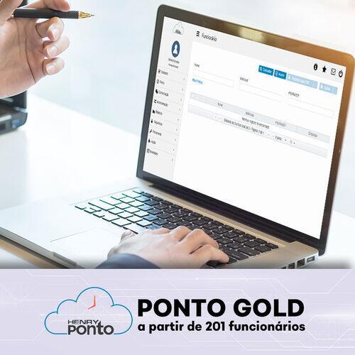 Software de Ponto Eletrônico Online - Henry Ponto Gold - a partir de 201 funcionários
